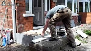 how to diy patio tiling job front porch flagged tiled project you