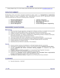 Resume Executive Summary Template ResumeExamples For Executive Summary With Management Qualifications 1