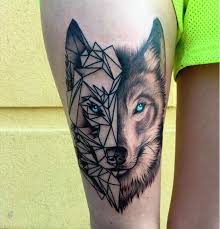 25 Amazing Geometric Dotwork Wolf Tattoos Tattoos Tetování