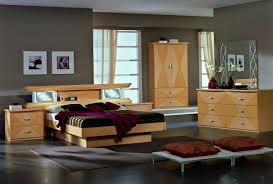 Maple Furniture Bedroom Glass Maple King Bed