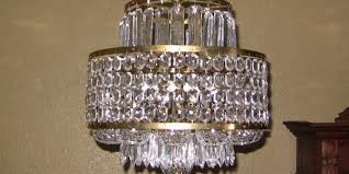 mid century irish waterford crystal layered chandelier rockwell antiques dallas