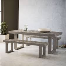 portside outdoor dining table 76 5 weathered gray