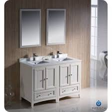double sink vanity small space. Fresca Oxford 48 Traditional Double Sink Bathroom Vanity Antique White For Small Space With