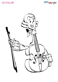 Dessin Violon Le Charmant Violon Avec Sa T Te De Mozart