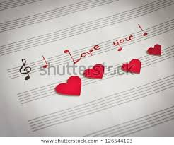 Words I Love You Shape Music Stock Photo Edit Now 126544103
