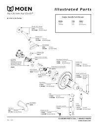 moen shower handle parts