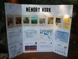 memory work tri fold board
