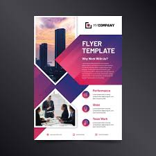 Create Business Flyer Business Flyer Abstract With Image Vector Free Download