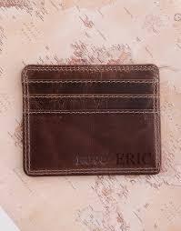 birthday personalised leather slim wallet