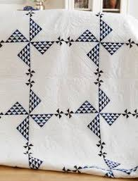 Gorgeous! ANTIQUE c1920s Ocean Waves in BLUE & White QUILT Clean ... & allpeoplequilt.com American Patchwork & Quilting December, 2012