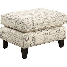 French Ottoman picket house uer636000ca emery ottoman in french script fabric w 1622 by xevi.us