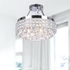 stirring 4 light chrome crystal chandelier photo design