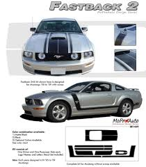 2005 Mustang Color Chart Details About Fastback 2 Boss Hood Side Stripes 3m Vinyl Graphic Decal 2005 2009 Ford Mustang