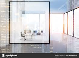 Office glass wall Translucent Ceo Office With Glass Wall Double Stock Image Crystalia Glass Ceo Office With Glass Wall Double Stock Photo Denisismagilov