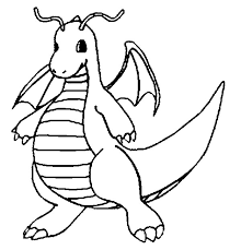 Small Picture Coloring Pages Pokemon Dragonite Drawings Pokemon