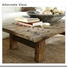 pottery barn rustic door coffee table love for the home with and on bar tables