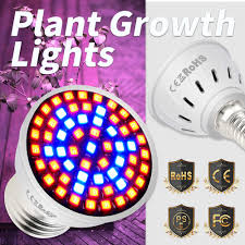 E27 220V <b>E14 Full</b> Spectrum <b>LED Plant Grow Light</b> Bulb GU10 ...