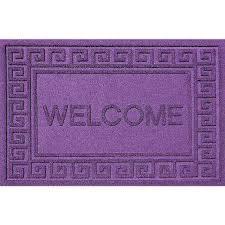 Welcome Purple Greek Welcome Purple 24x36 Polypropylene Door Mat