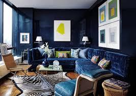 blue velvet sofa todd alexander romano in architectural digest