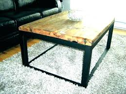 wood coffee table with metal legs casual square wood and metal coffee table round wood and