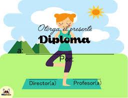 Diplomas Deportivos Para Generar En Linea Fichas Escolares