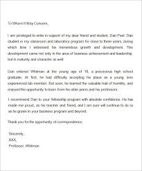Letter Of Recommendation For Scholarship Inspiration Sample Letter Of Recommendation For Scholarship 48 Examples In
