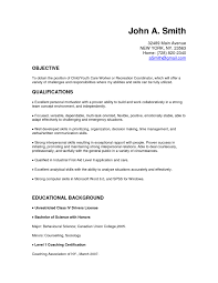 Child Care Resume Sample Resume Templates