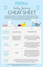 Baby Feeding Cheat Sheet Baby Food Guide Baby Feeding