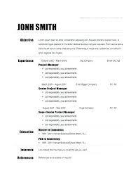 Simple Easy Resume Resume Samples Simple Easy Resume Samples Simple Resume Sample