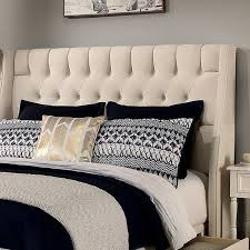 upholstered wingback headboard. Contemporary Upholstered Difranco Upholstered Wingback Headboard And Bench And O