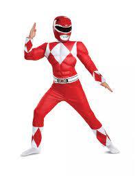 Power Rangers™-Kostüm für Kinder Serienfigur rot-weiss: Kostüme für  Kinder,und günstige Faschingskostüme - Vegaoo
