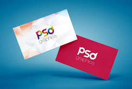 Floating Business Card Mockup Free Psd Psd Graphics