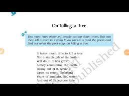 cl 9th on killing a tree poem full