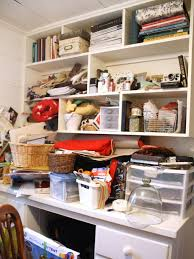 organized home office. Before: Cluttered Home Office Desk Organized