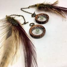 Dream Catcher Tunnels Handwoven DreamCatcher Dangle Chains with Real Feathers for 70