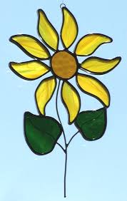 small sun flower sun catcher description this leaded stained glass