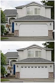 Faux Garage Door Windows Easy Diy Faux Garage Door Windows Simply Darrling