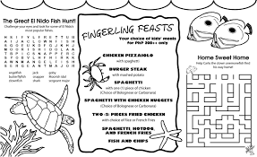 Free Kids Menu Templates Photo Template And Coloring Pages For