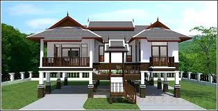 modern thai house design modern house plan 3 beds 2 baths modern thai style house plans