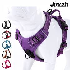 Juxzh Truelove Soft Front Dog Harness Best Reflective No Pull Harness With Handle And 2 Leash Attachments