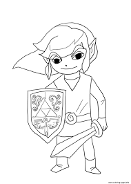 Wind Waker Link Coloring Pages