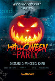 halloween template flyer halloween party event free psd flyer template horror poster