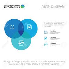 Venn Diagram Editable Editable Infographic Template Of Venn Diagram Blue And Light