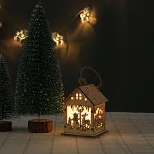 Led Light Up Christmas Tree Led Light Up Christmas Ornament Small Wooden House Luminous Xmas Tree Hanging Pendant Holiday Decor 4 Christmas Decorations To Buy Christmas