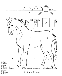 Small Picture Color by Number Coloring Page Easy beginner Follow the color