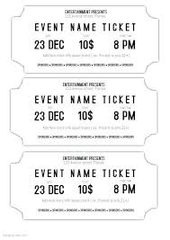 Event Ticket Template Word Templates For Event Tickets Admission Ticket Template Word
