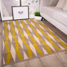 trendy yellow area rug design.