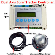 diy solar tracker kit 2 14 linear actuators dc motor dual axis lcd controller wind sd sensor for solar panel sun tracking in dc motor from home