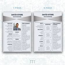 Professional Resumetemplate For Word By Tiptoptemplate Professional