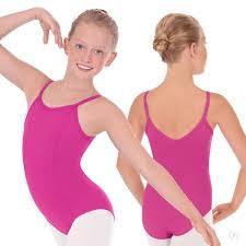 Girls Adjustable Strap Princess Seam Camisole Leotard With